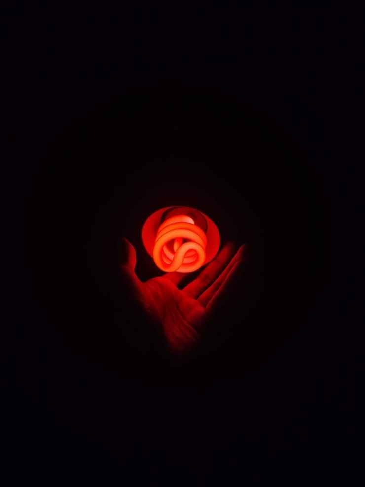 orange led cfl bulb